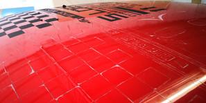 Adhesif voiture en cours de remplacement Citroen DS3