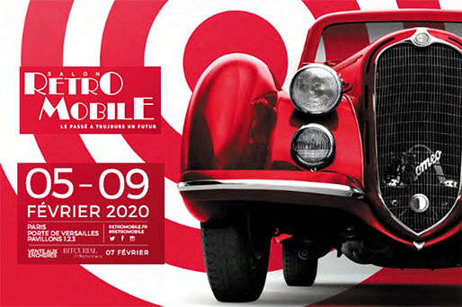 Retromobile 2020 Paris Parc exposition auto