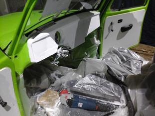Amenagement sur mesure composite carbone intérieur véhicule
