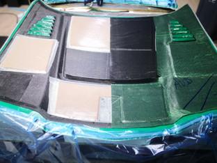Fabrication capot en fibre de carbone drift