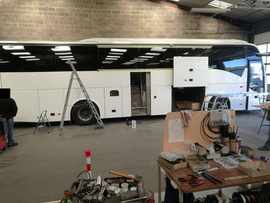 Réparation piece composite polyester poids lourd motorhome Volvo