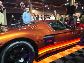 Présentation Ford GT avec gerry blyenberg au salon retromobile 2020