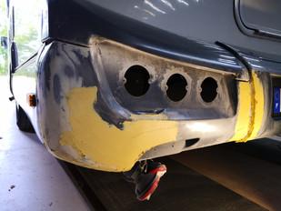 Réparation pièce pare-choc composite camping car motorhome caravaning