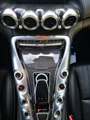 Recouvrement pièce veritable carbone Mercedes AMG GT V8.