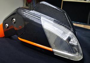 Recouvrement pièce carrosserie en fibre de carbone