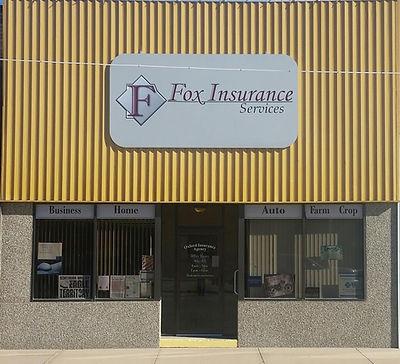 Fox Insurance, storefront, building, insurance office