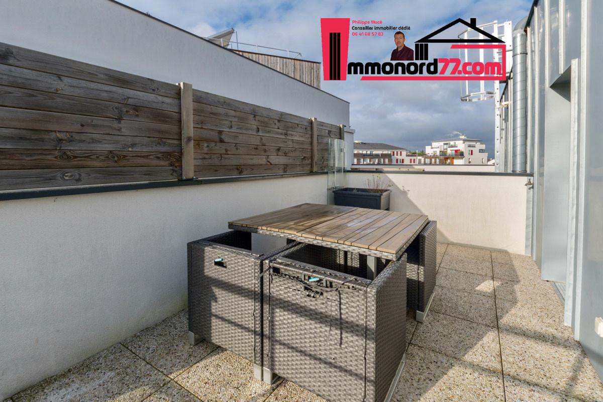 A vendre appartement-T3-Claye-Souilly-terrasse-attique