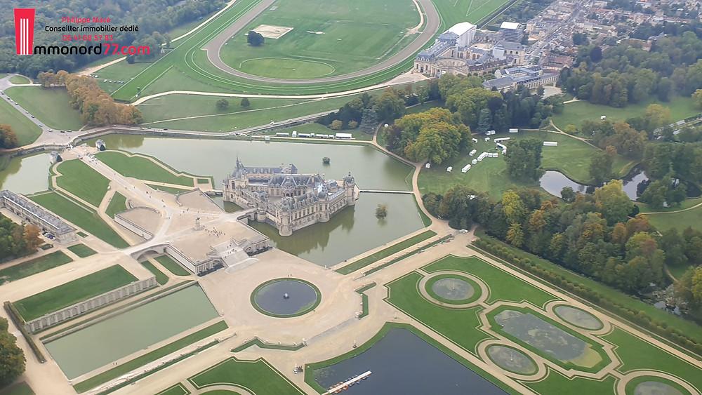 Chaâteau de Chantilly avec Immonord77