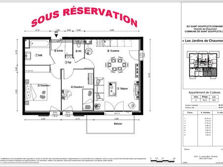 Appartement Neuf T3 - 77165 Saint Soupplets