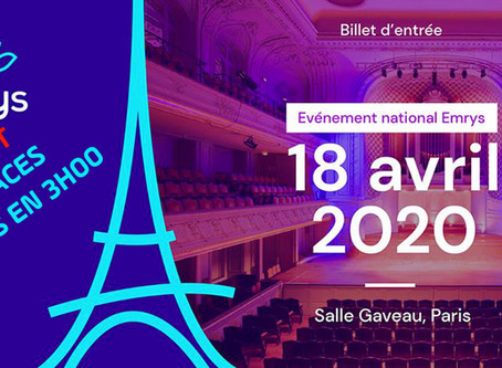 Places en vente Convention Emrys la Carte Paris 2020