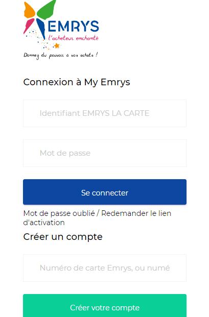 Page de connexion la carte emrys