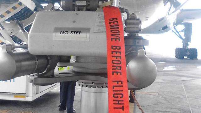 Flamme remove before flight