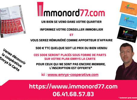 Partenariat entre la Coopérative solidaire et Immonord77.com