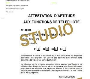 Aptitude Telepilote STUDIODRONE