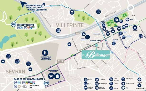 Localisation-Villa-Ballanger-Villepinte