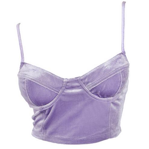 Moesha - Velvet Cami Crop Top