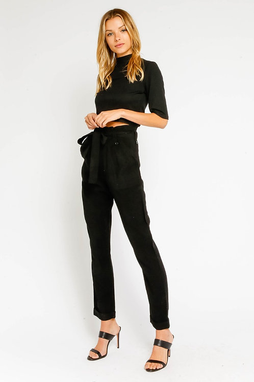 Ashanti - High Waisted Belted Pants