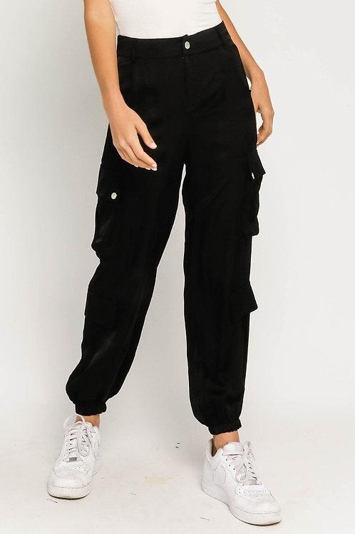 Kendall -  Satin Cargo Pants