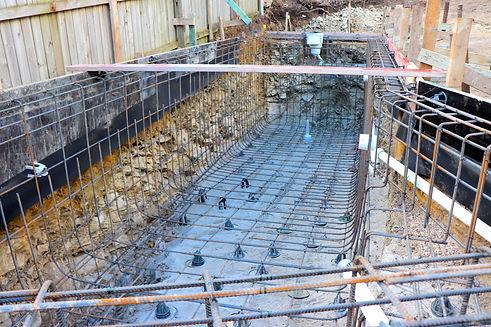 Pool Reinforcing Steel - Custom Homes