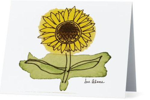 Sunflower Note Card Set of 10