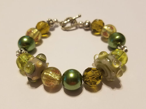 Olive Green Glass