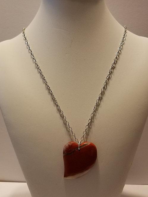 Brecciated Red Jasper Heart