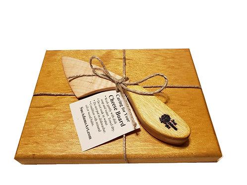 Yellowheart Cheese Board Set