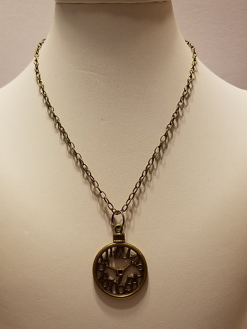 Antique Brass Clockface