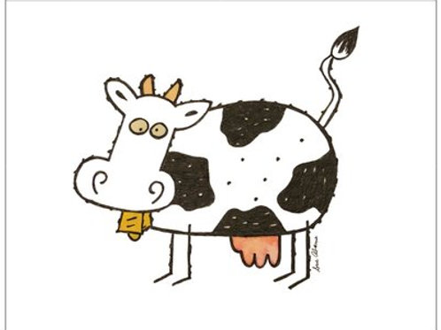 Cow Note Card Set of 10