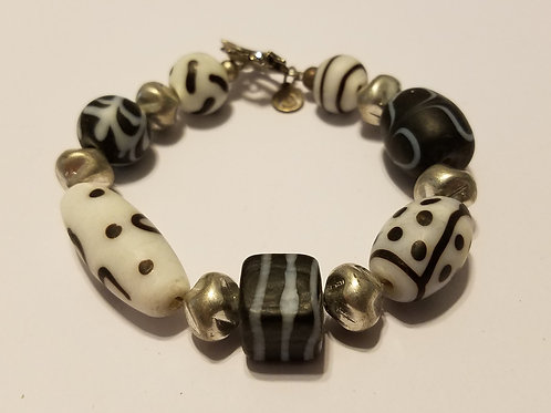 Black and White African Glass