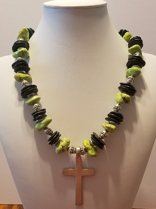 Green and Black with Cross