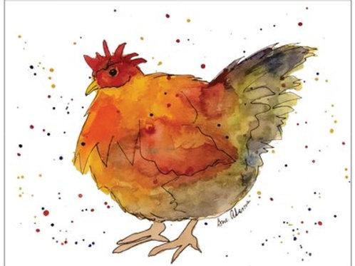 Chicken Note Card Set of 10