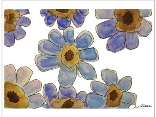 Blue Flowers Note Card Set of 10