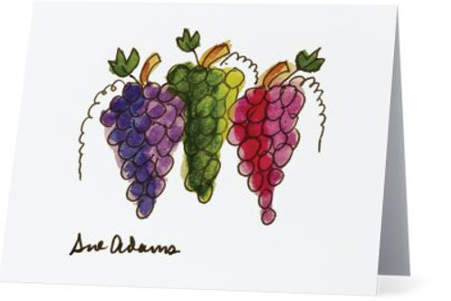 Grapes Note Card Set of 10