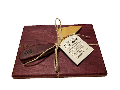 Purpleheart Cheese Board Set