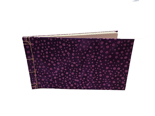 Purple Dots Watercolor Journal