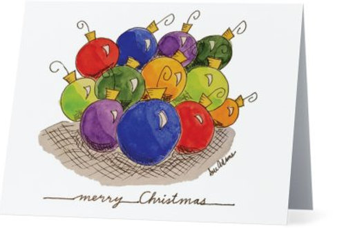 Christmas Ornament Note Card Set of 10
