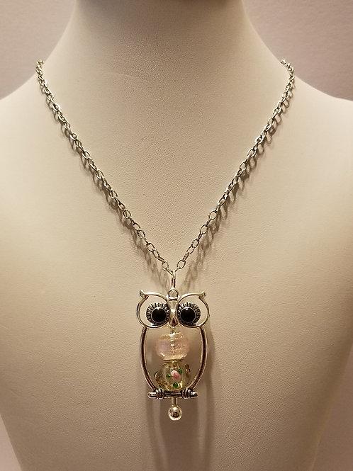 Antique Silver Owl