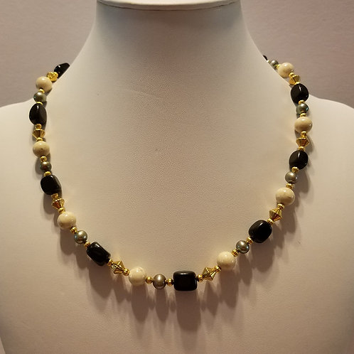 Black/Green Stone and Pearl