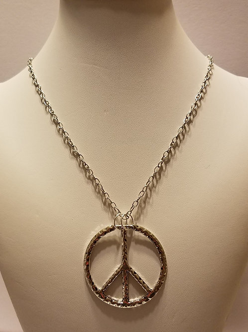 Antique Silver Peace Sign