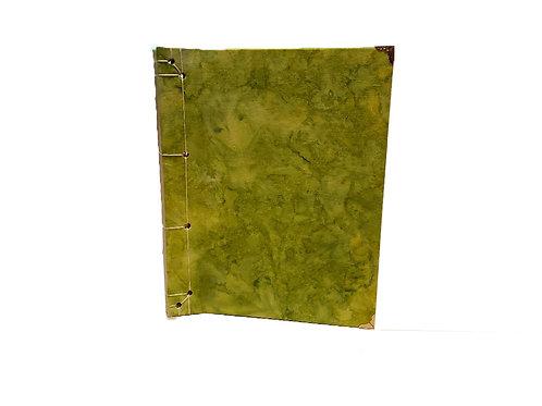 Green Tie-dye Journal