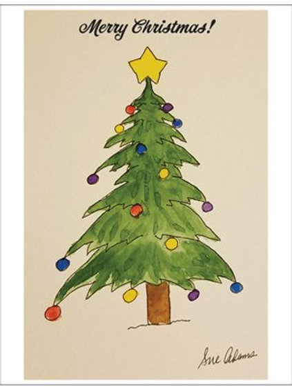 Christmas Tree Note Card Set of 10