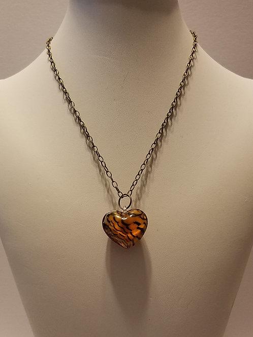 Striped Orange Heart