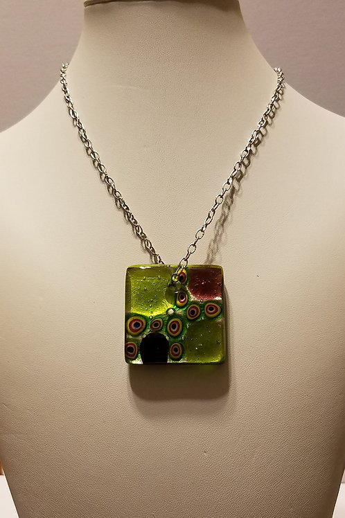 Green Square with Millefiori