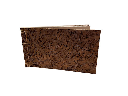 Brown Leaf Watercolor Journal