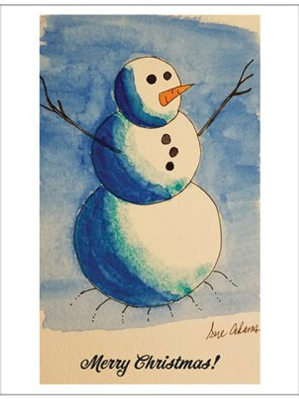 Snowman Note Card Set of 10