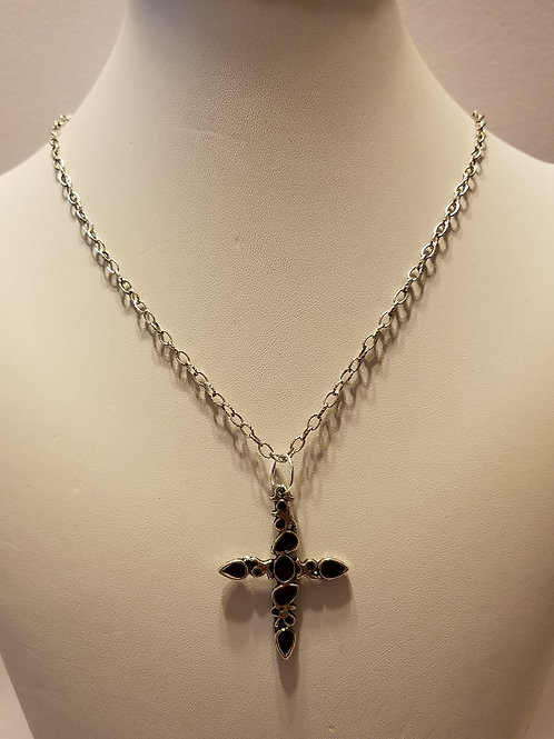 Silver and Black Cross