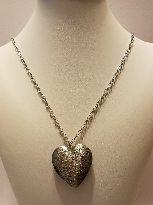 Antique Silver Heart Locket