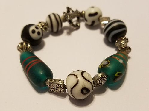 Green and Black African Glass