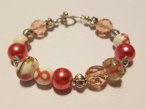 Pink Ribbon Glass